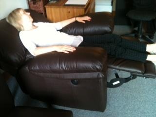 reclining therapist